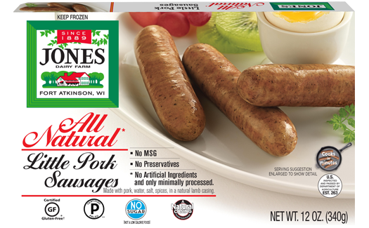 Jones Dairy Farm No Sugar All Natural Pork Sausage Little Links Package